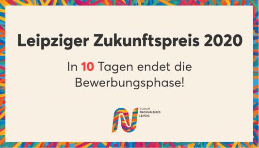 In 10 tagen endet die Bewerbungsphase für den Leipziger Zukunftspreis 2020