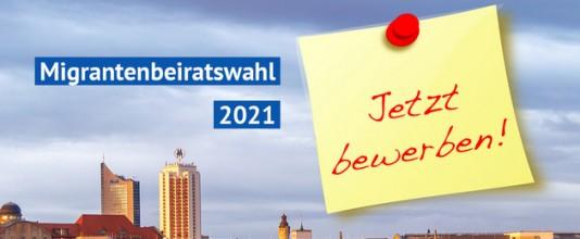 Banner Migrant:innen-Beirat-Wahl